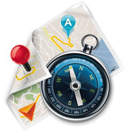 Local SEO services sowing a local_compass and map